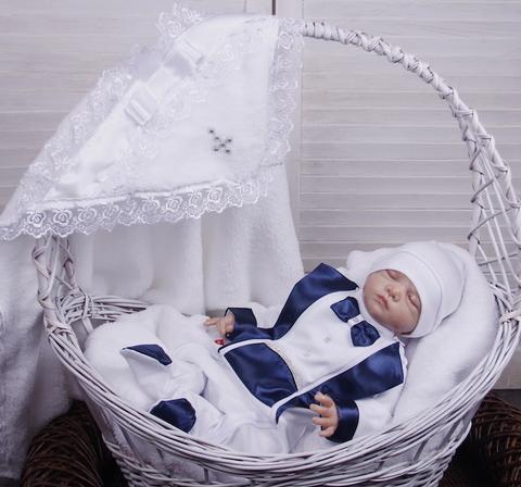 Набор для крещения мальчика Маленький принц синий