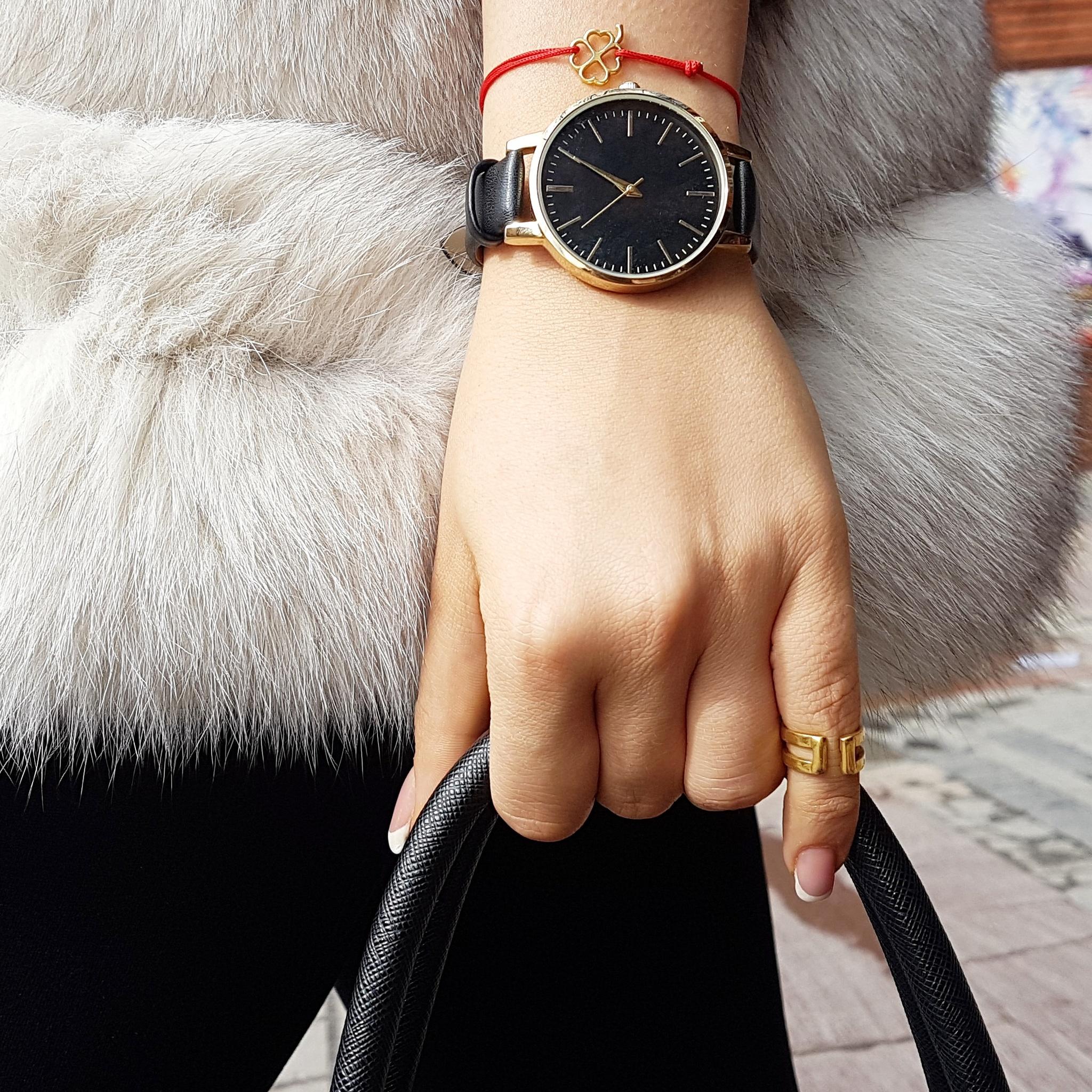 Small Clover Bracelet, sterling silver