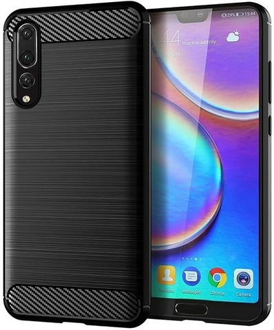 Чехол Huawei P20 Pro цвет Black (черный), серия Carbon, Caseport