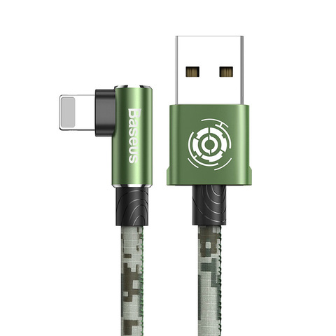 Кабель Baseus Camouflage Mobile Game Cable USB For iP 2.4A 1m Green