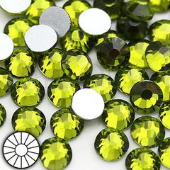 Стразы холодной фиксации клеевые стеклянные Olivine Оливин желто-зеленый на StrazOK.ru