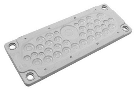 Кабельный ввод, пластик V0 UL94, IP65,  +130 - 40, 36 отверстий