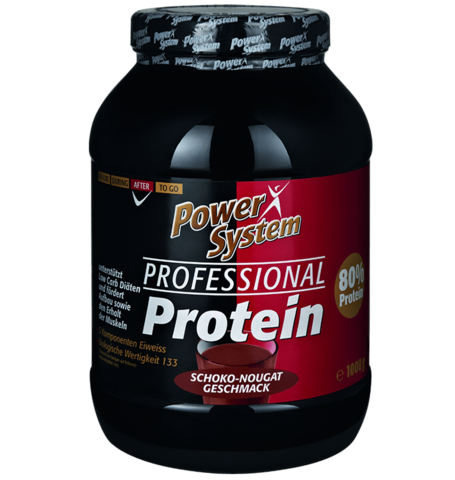 Профешнл Протеин, 1000 гр (шоколад-нуга) Пауэр Систем