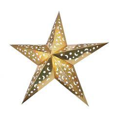 Звезда бумажная 90 см голографическая золотая