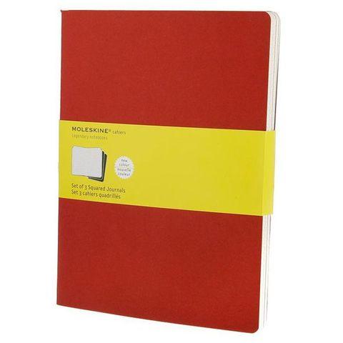 Блокнот Moleskine CAHIER JOURNAL CH122 XLarge 190х250мм обложка картон 120стр. клетка клюквенный (3шт)