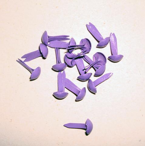 Брадсы круглые 5х9 мм, сиреневый пастельный