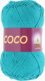 Пряжа Vita Coco 4315 т.зеленая бирюза