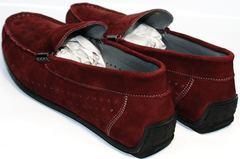 Мужские туфли мокасины IKOC 1555-3 Red.