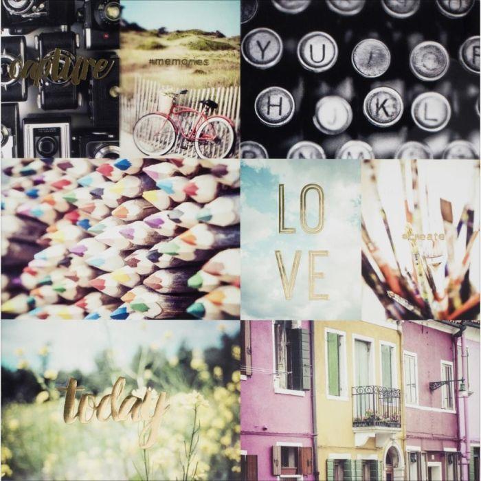 Лист оверлея 30*30 см с журнальными карточками MEMORANDUM Pink Paislee