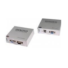 Комплект передачи VGA + клавиатура + мышь TA-VKM/3+RA-VKM/3 (ver.2)