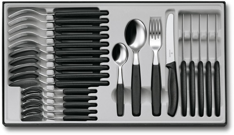 Набор Victorinox столовый, 24 предмета, черный