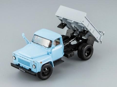GAZ-52-02 SAZ-3504 Tipper 1974 blue-gray DIP 1:43