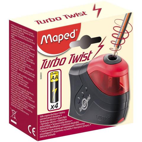 Точилка MAPED Turbo Twist 1 отв., с конт.,элек.,раб. на бат.026031