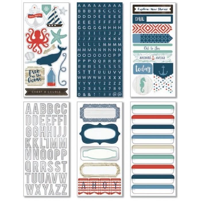 Набор стикеров  из коллекции BY THE SEA от My Mind