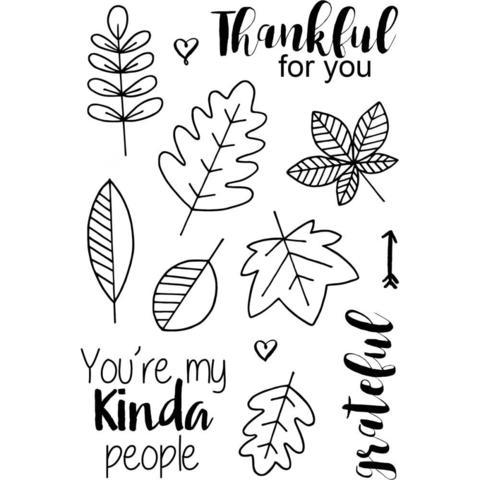 Набор силиконовых штампов -Thankful