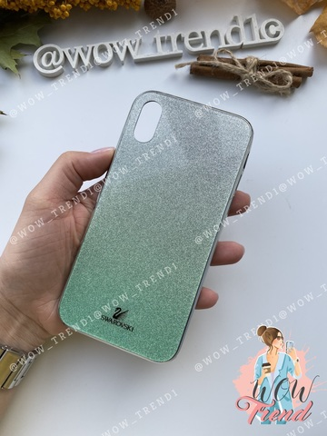 Чехол iPhone 7/8 Swarovski Case /green/