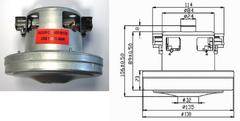 Мотор 1400W пылесоса ELECTROLUX 2192841027
