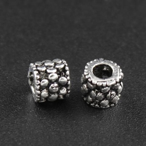 Рондель разделитель точечки 4,6х5,2 мм серебро 925