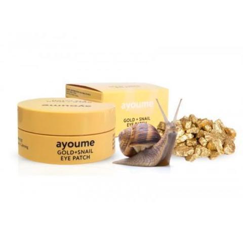 AYOUME Патчи для глаз омолаживающие с золотом и улиточным муцином GOLD+SNAIL EYE PATCH 1,4гр*60шт