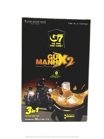 Вьетнамский растворимый кофе Trung Nguyen G7 X2 3 в 1, 12 пак.