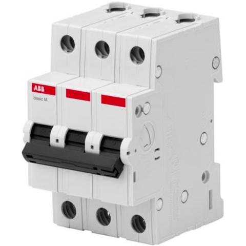 Автоматический выключатель 3-полюсный 6 A, тип C, 4,5 кА  BMS413C06. ABB. 2CDS643041R0064