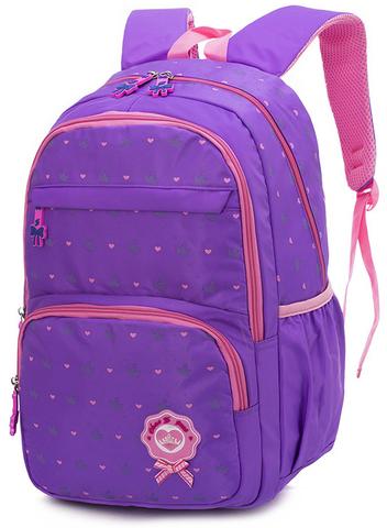 Рюкзак школьный Beibulan 8209 Сиреневый + Пенал