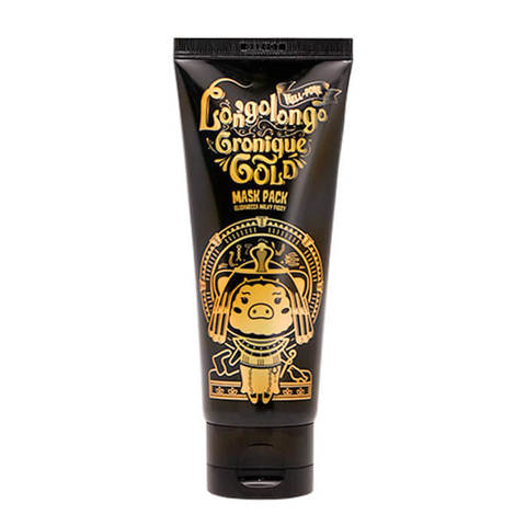Маска-плёнка Elizavecca Hell-Pore Longolongo Gronique Gold Mask Pack золотая