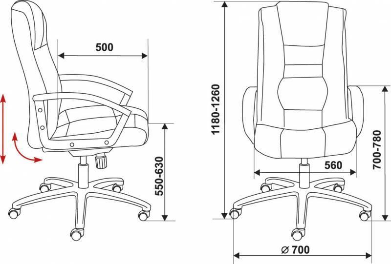Кресло для руководителя T-9906AXSN