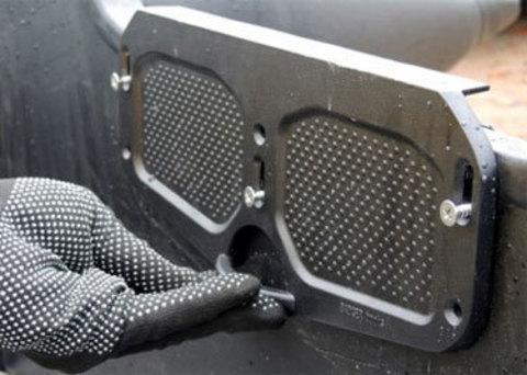 Алюминиевая транцевая пластина регулируемая (черная) DJ1202B_New