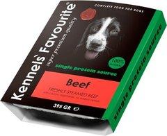 Влажный корм для собак всех пород и возрастов Kennels` Favourite 100% Beef Свежепареное мясо с говядиной