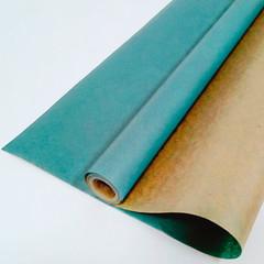 Крафт-бумага вержированная однотонная Морская волна, 70 см *10 м.