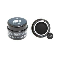 TNL, 4D Гель для дизайна ногтей № 2, черный, 8 мл