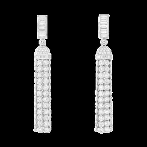60132- Серьги-кисточки длинные из серебра в стиле BOUCHERON