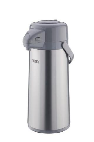 Уценка! Термос Thermos TPP-2200MPP (2,2 литра) стекланная колба с пневмонасосом, стальной