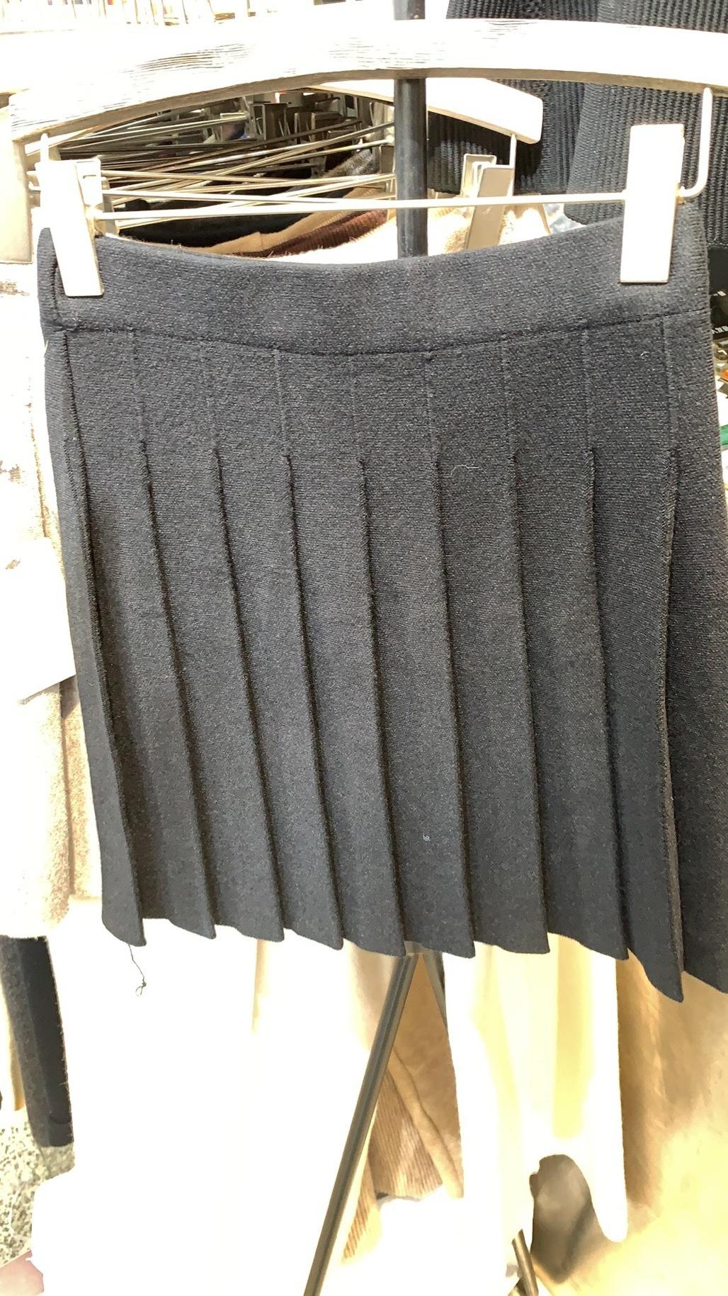 Трикотажная юбка солнце, черный