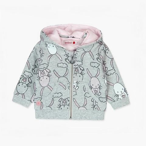 Толстовка Boboli детская Розовые зайчики