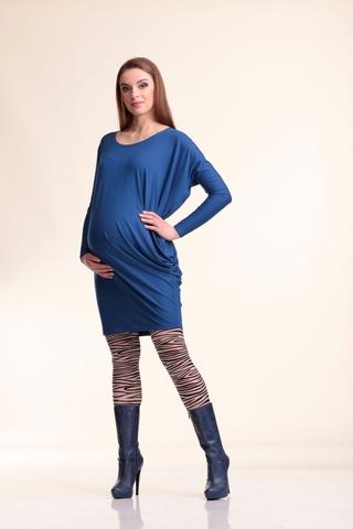 Туника для беременных 07224 синий
