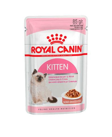 Royal Canin Kitten Instinctive пауч для котят от 4 до 12 месяцев кусочки в соусе мясо 85 г