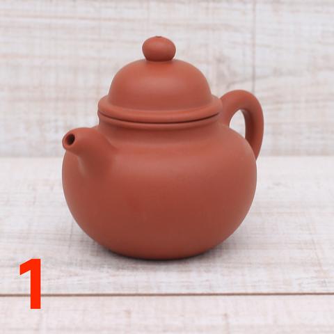Чайник из исинской глины, 130мл, штамповка, 130002