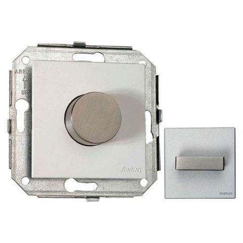 Выключатель/кнопка. Цвет Сталь/белый. Fontini F37(Фонтини Ф37). 37310252