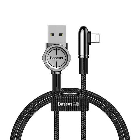 Кабель Baseus Exciting Mobile Game Cable USB For iP 2.4A 1m Black