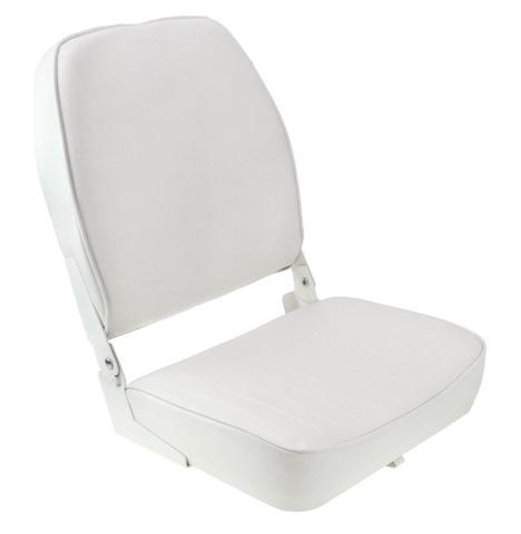 Сиденье мягкое складное ECONOMY с высокой спинкой, белое