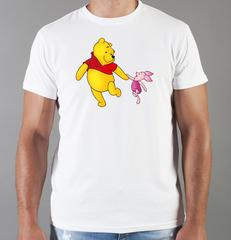 Футболка с принтом мультфильма Винни-Пух (Winnie the Pooh) белая 0014