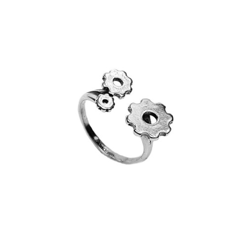 Gears Ring, Sterling Silver