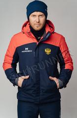 Премиальная теплая лыжная куртка Nordski Mount Dark Blue-Red мужская