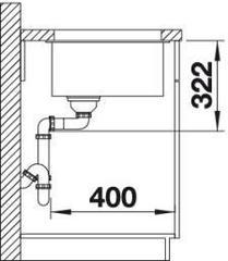 Мойка Blanco Subline 700-U Level схема