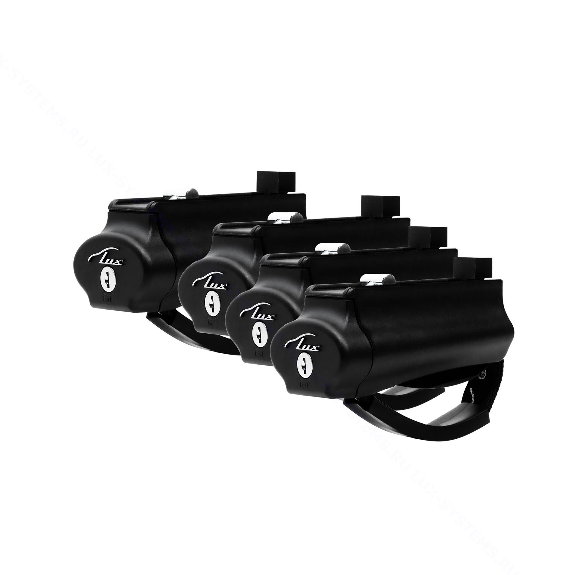 Комплект опор LUX Бэлт на рейлинги - 4шт с замками
