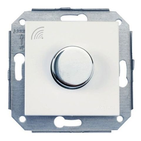 Выключатель/кнопка. Цвет Хром/белый. Fontini F37(Фонтини Ф37). 37310262