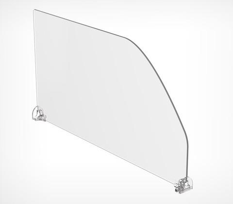 Пластиковый разделитель высотой 200 мм с фиксированной длиной, L=385 мм DIV200