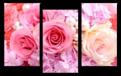 """Модульная картина """"Жемчужные розы"""""""